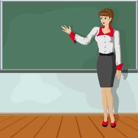 Teacher girl Illustration