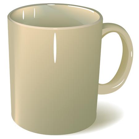 Blank ceramic mug