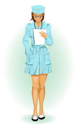Beautiful girl nurse Vector