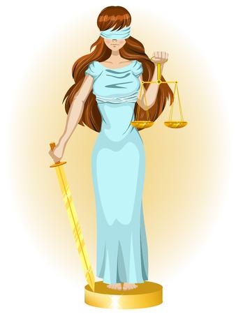 blind justice: Justice girl Illustration