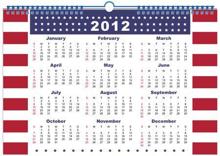 chronologie: Le calendrier Etats-Unis 2012