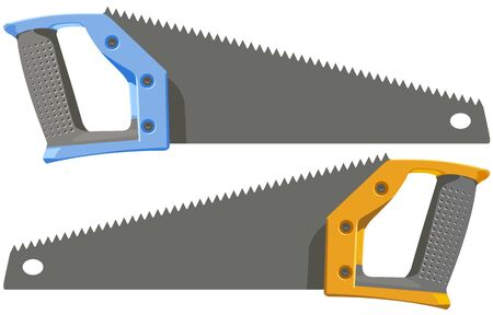 handsaw: The two hacksaw Illustration