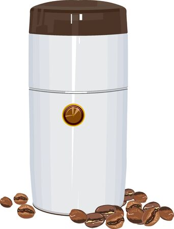 electric coffee grinder illustration in vector format Stock Vector - 16041920