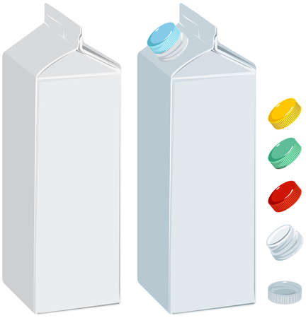 Paper pack for milk or juice Vector