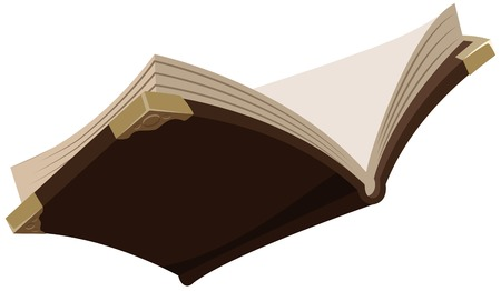Open magic old book  Illustration in vector format