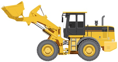 Big wheel loader  Illustration in vector format