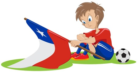 Sad Chile soccer fan  Illustration in vector format Vector