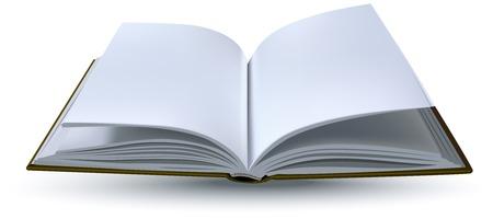 하나의 오픈 책 현실입니다. 벡터 형식 그림