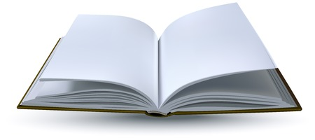 One open book realistik. Vector format illustration
