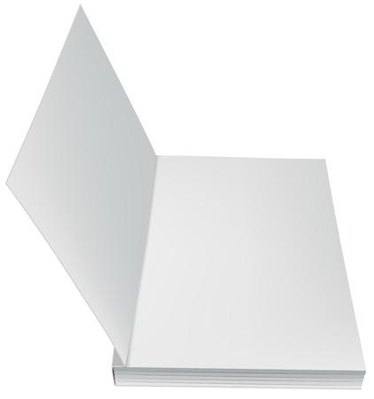 Apra il libro prima pagina brossura isolato. Illustrazione in formato vettoriale