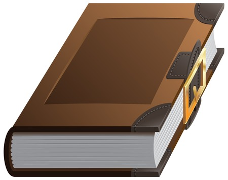 clasp: Old thick book with clasp. Illustration in vector format