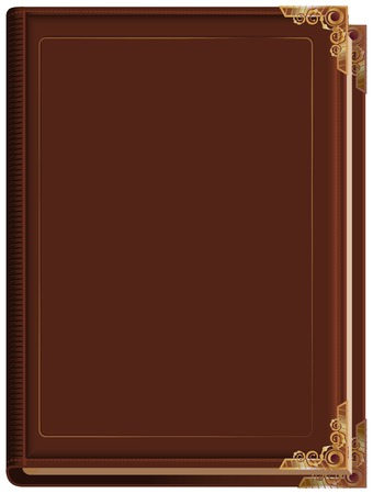 Brown closed book. Illustration in vector format Çizim