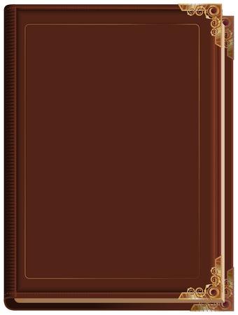 libros antiguos: Marrón libro cerrado. Ilustración en formato vectorial Vectores