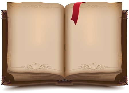 Old open book for Halloween. Illustration in vector format Vectores