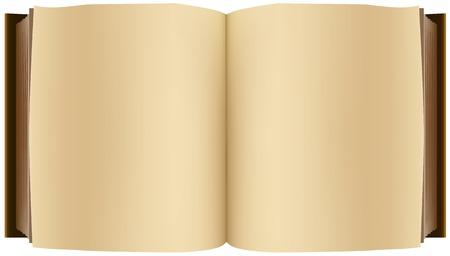 Brown open boek. Illustratie in vector-formaat