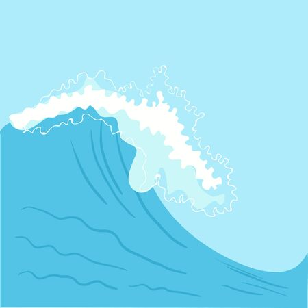high sea: Blue High sea wave. Illustration in vector format