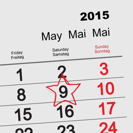 communism: May 9 Victory Day. Calendar. Illustration in vector format Illustration