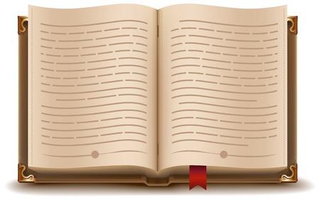 텍스트와 빨간색 책갈피와 책입니다. 벡터 형식으로 그림