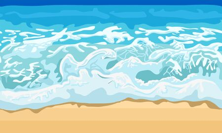 sand beach: Sea wave and sand beach. Illustration in vector format
