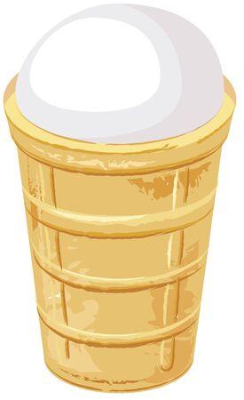 crisp: Ice cream cone. Illustration isolated in vector format