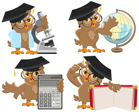 Set owls teachers. Isolated illustration in vector format Ilustrace