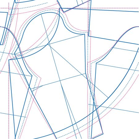 Sewing pattern. Seamless texture. Illustration in vector format