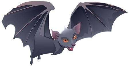 red eyes: Bat with red eyes and sharp teeth. Isolated illustration
