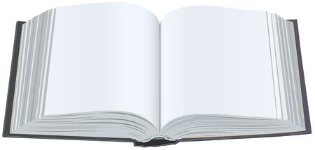 Libro aperto con lenzuola pulite. Libro aperto con pagine vuote. Isolata l'illustrazione in formato vettoriale Archivio Fotografico - 46526552