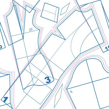 Naaien patroon. Naadloze textuur. Illustratie in vector-formaat Stockfoto - 46526558