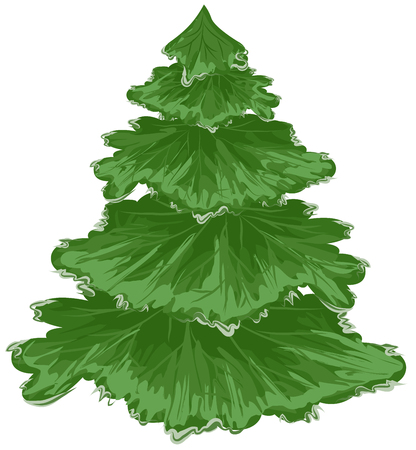 evergreen trees: Christmas tree. Pine tree. Isolated on white vector illustration