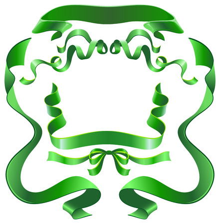 green ribbon: Set green ribbon