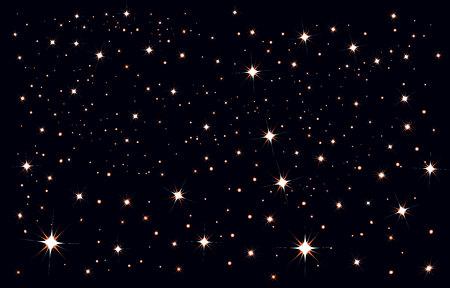 Starry sky. Stars in the night sky. Illustration in vector format