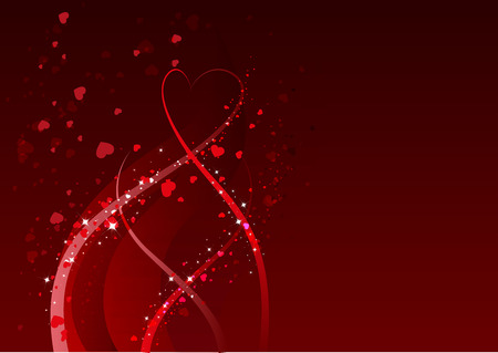 Abstract background for Valentines day. Red heart symbol of love. Illustration in vector format