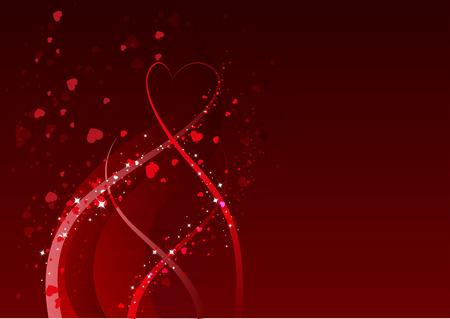 saint valentin coeur: R�sum� de fond pour la St Valentin. Red symbole du c?ur de l'amour. Illustration en format vectoriel