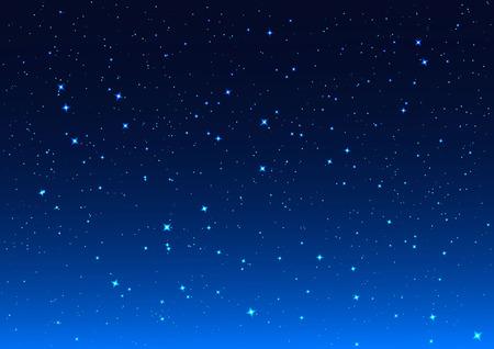 starlit sky: Night sky. Stars in night sky. Background illustration format