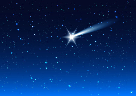 night: Night sky. Star drops in night sky make wish. Background illustration format