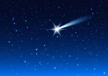Night sky. Star drops in night sky make wish. Background illustration format