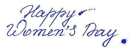 Felicidades por las letras de marzo 8. Texto para la tarjeta de felicitación. texto de la plantilla Foto de archivo - 53141992