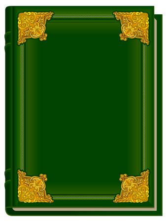 Vecchio libro verde Corano. Sacro Corano. Libro chiuso con fodera dorata. Illustrazione in formato Archivio Fotografico - 53142004