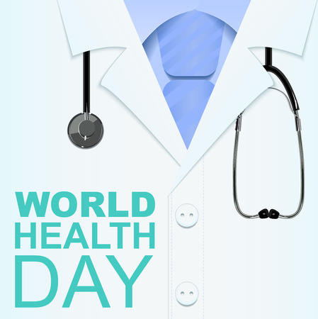7 April World Health Day. Text for greeting card. Illustration in vector format