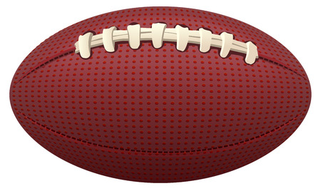 hid: Ball for American football. Isolated on white vector illustration Illustration