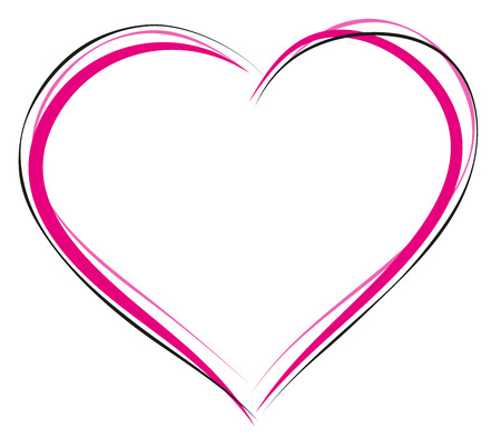 Heart symbol of love. Sign of heart outline. Illustration in vector format