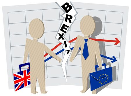 implications: Implications for Business brexit Britain and European Union. Illustration in vector format Illustration