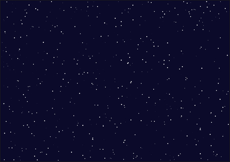 Night starry sky. Seamless background. Illustration in vector format Illustration