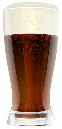 dark beer: Dark beer in glass. Illustration