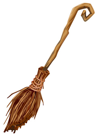 Old broom with long handle.