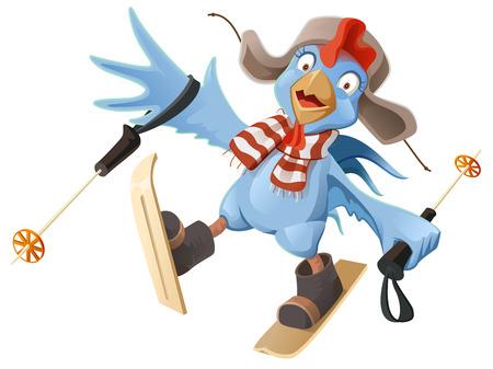 Blue Rooster symbol 2017.