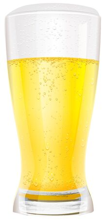 non alcoholic: Lager light non alcoholic beer in glass.