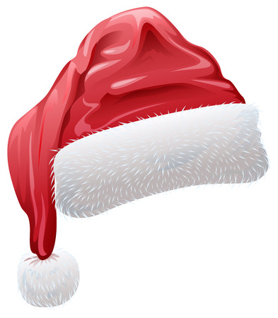 red santa hat with fluffy white fur isolated vector illustration rh 123rf com santa hat vector png santa hat vector png