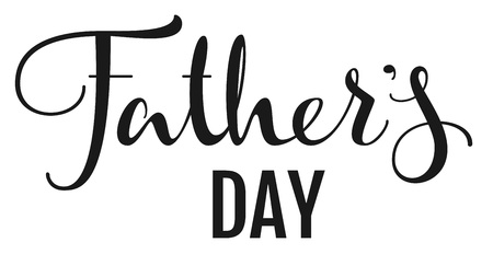 typescript: Fathers Day. Lettering text for greeting card. Isolated on white script vector illustration